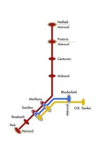 Gautrain map